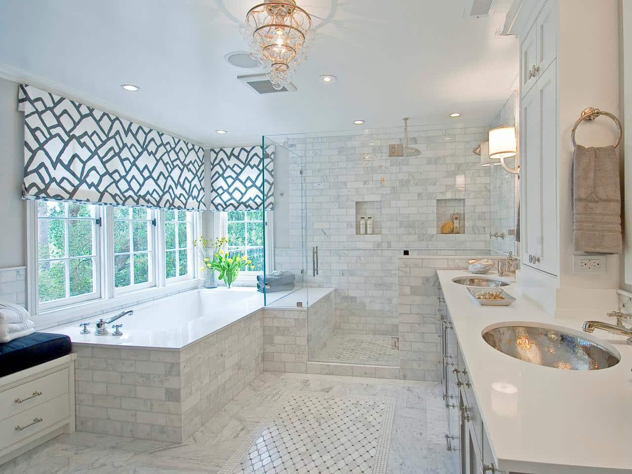 Bathroom with windows white