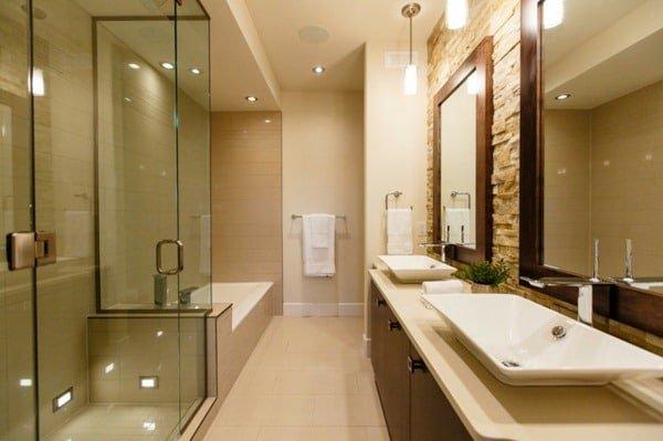 Beautiful restroom with no window
