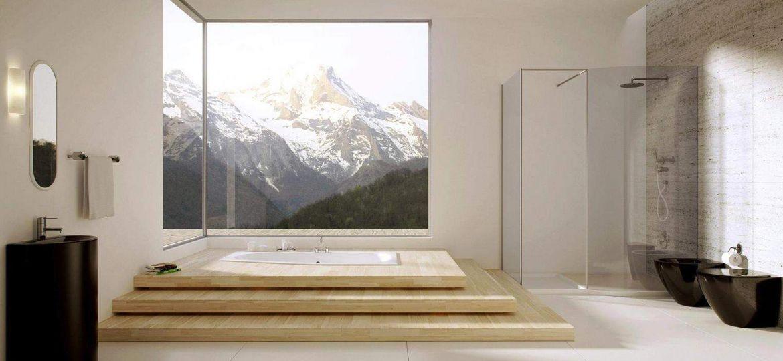 Bathroom Facing Mountains