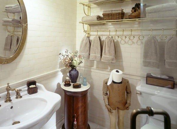 Restroom towels and rack