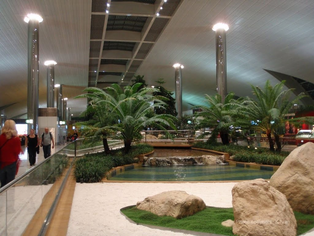 Dubai International Airport Garden & Water
