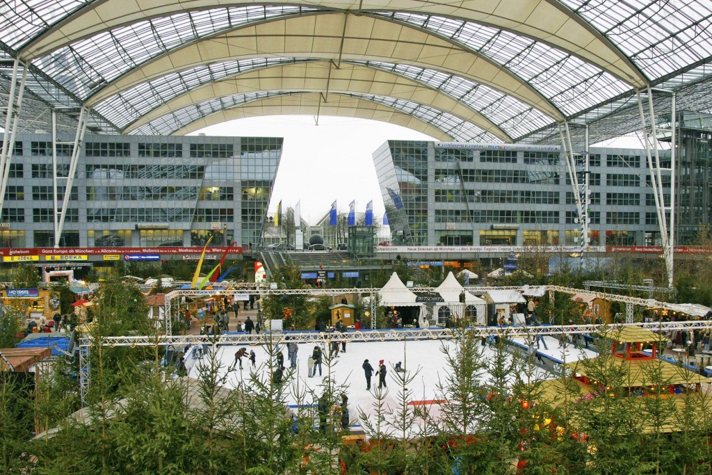 Munich Airport Center Christmas Market Ice Skating