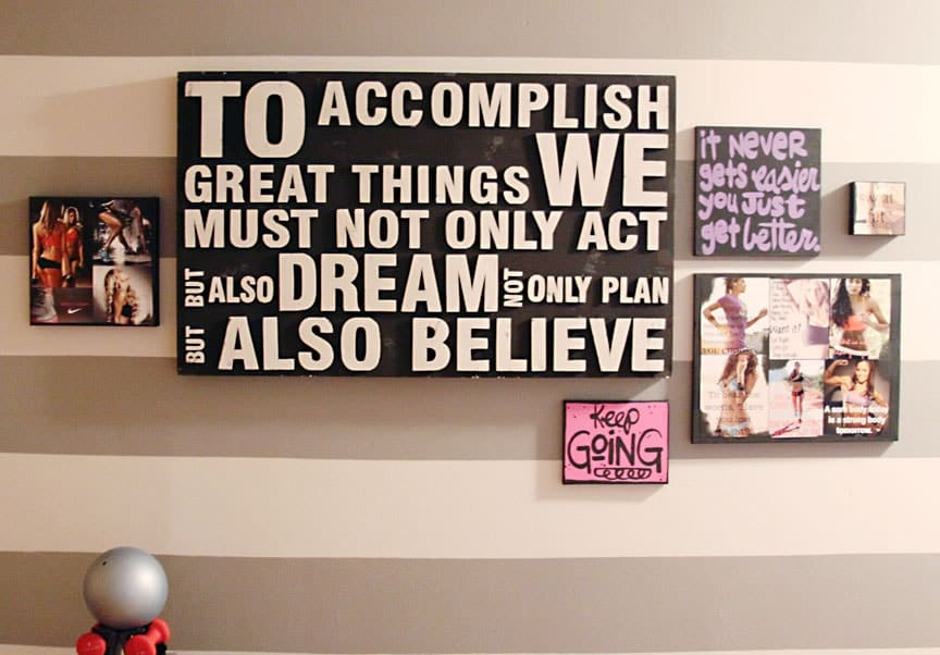 A wall with too much artwork can get overwhelming.