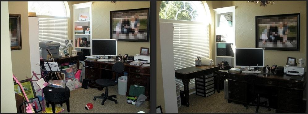How different would your day start in these two different desk arrangements?
