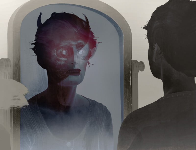 Stare at yourself and you may actually see a distorted version of your own face when you're about three feet away from the mirror in the dark room, according to the strange face-in-the-mirror illusion experiment.