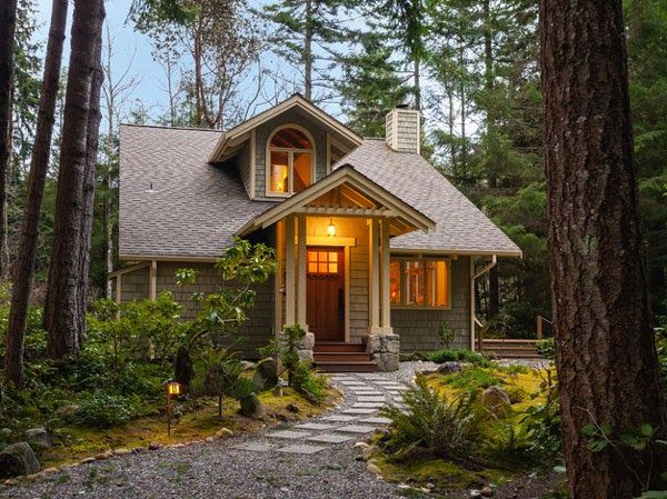 A double front door would be too big for this house.