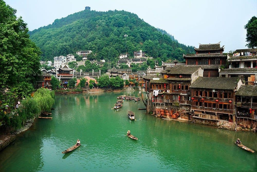 """Fenghuang (""""Phoenix"""") Ancient City in Hunan Province."""