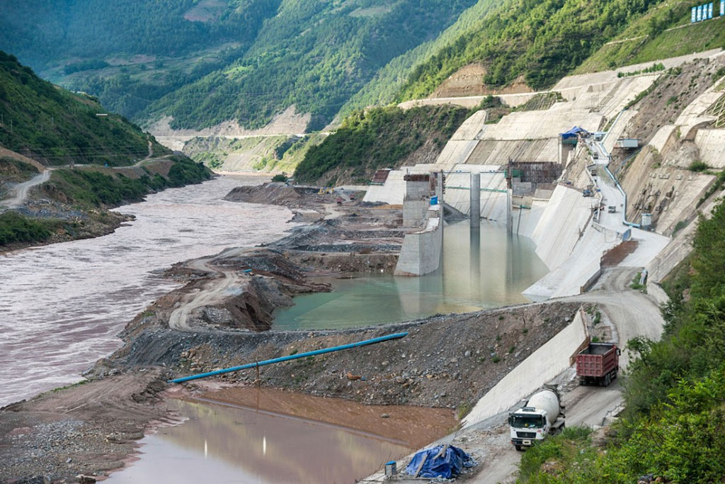 """The massive dam that began construction in 2012 in Laos could """"alter the river's ecology and disrupt the food supplies of millions of people in Southeast Asia."""" – Joshua Zaffos, Published on Yale University website."""