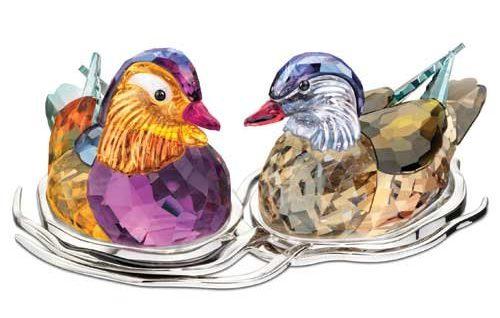 Swarovski Mandarin Ducks Figurine.