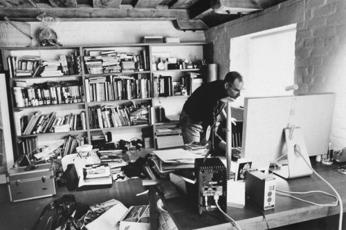 """The desk of Steve Jobs - could this be the """"creative mess?"""""""