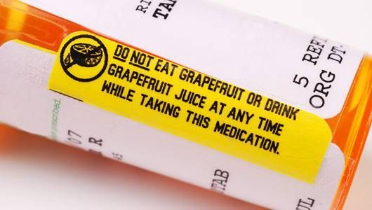 It has been proven that grapefruit interacts negatively with certain medications. That's why most medicines ask you to consult your doctor before ingesting.
