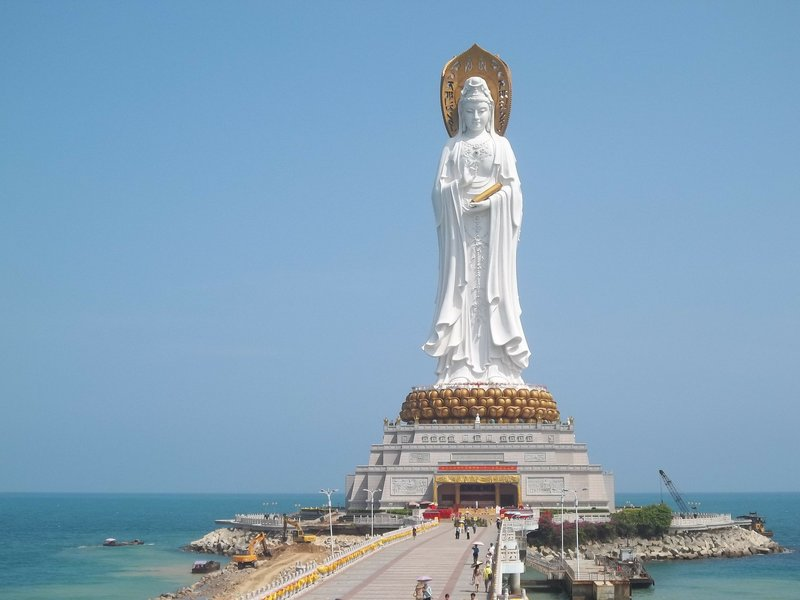 """Some """"Feng Shui"""" practices use statues of Buddha for better Qi. Shown here is a statue of Kuan Yin in Hainan, China."""