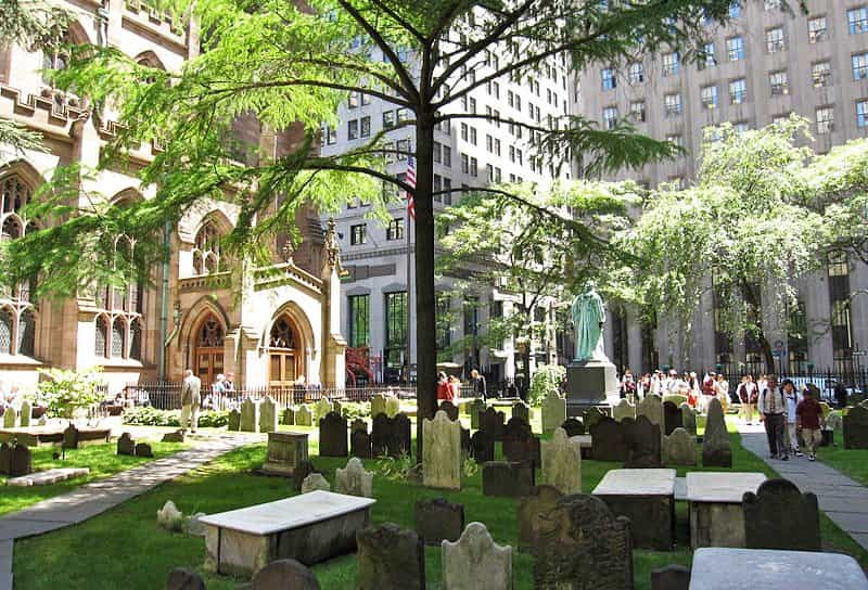 """The surrounding Yang energy of the city completely overwhelms the Yin energy of this small cemetery, making it less """"spooky""""."""