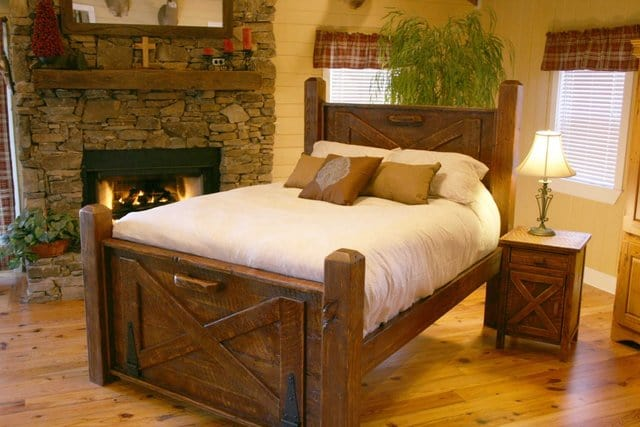 Shown above is a diagonal placement of the bed with respect to the wall.