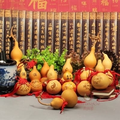 Some experts suggest calabash as a Feng Shui cure for those living next to graveyards or cemeteries.