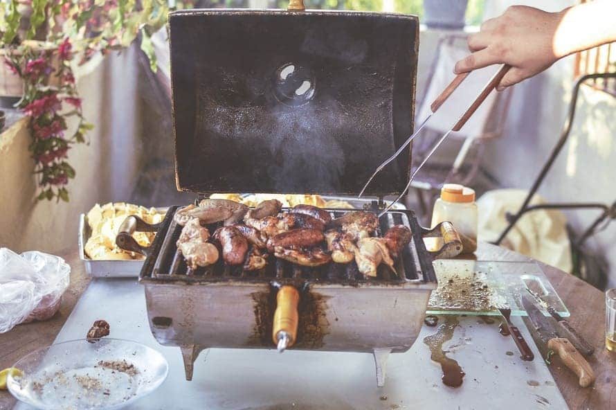 Barbeque smoke produces particles that are known to cause cancer.