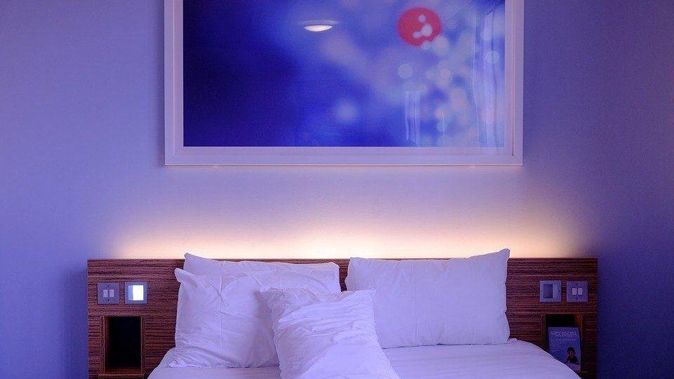 bedroom-light blue soft color feng shui (Demo)