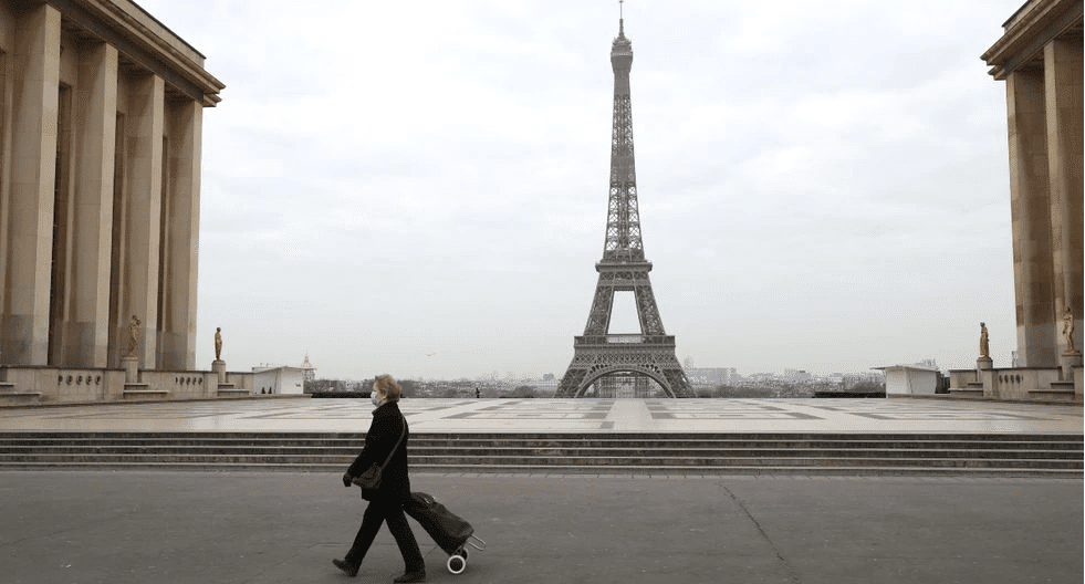 Eiffel Tower Empty Paris Streets COVID 19 coronavirus pandemic-min