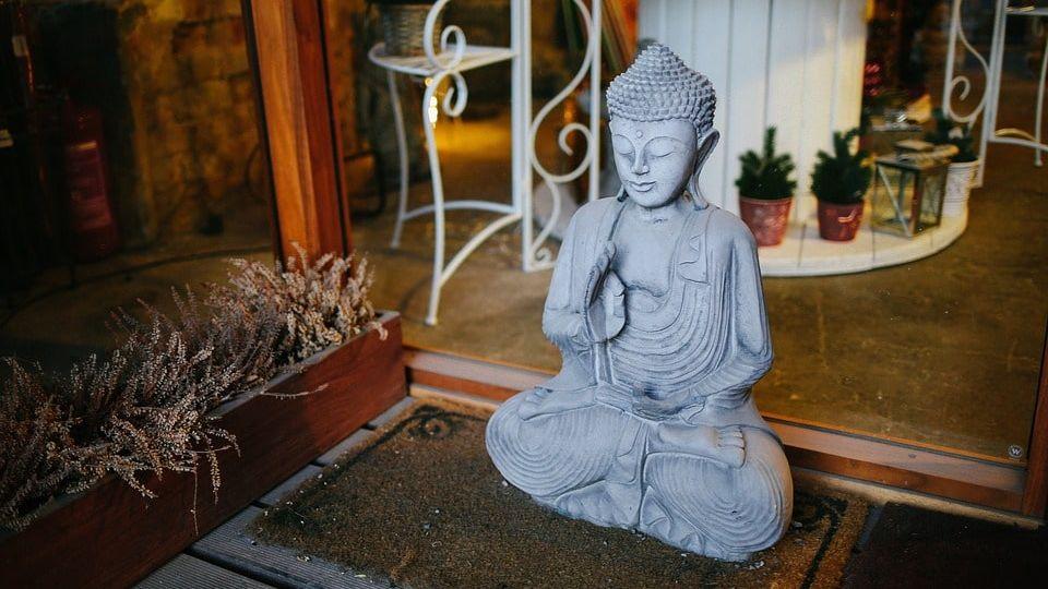 Buddha Statue Feng Shui front of home-min